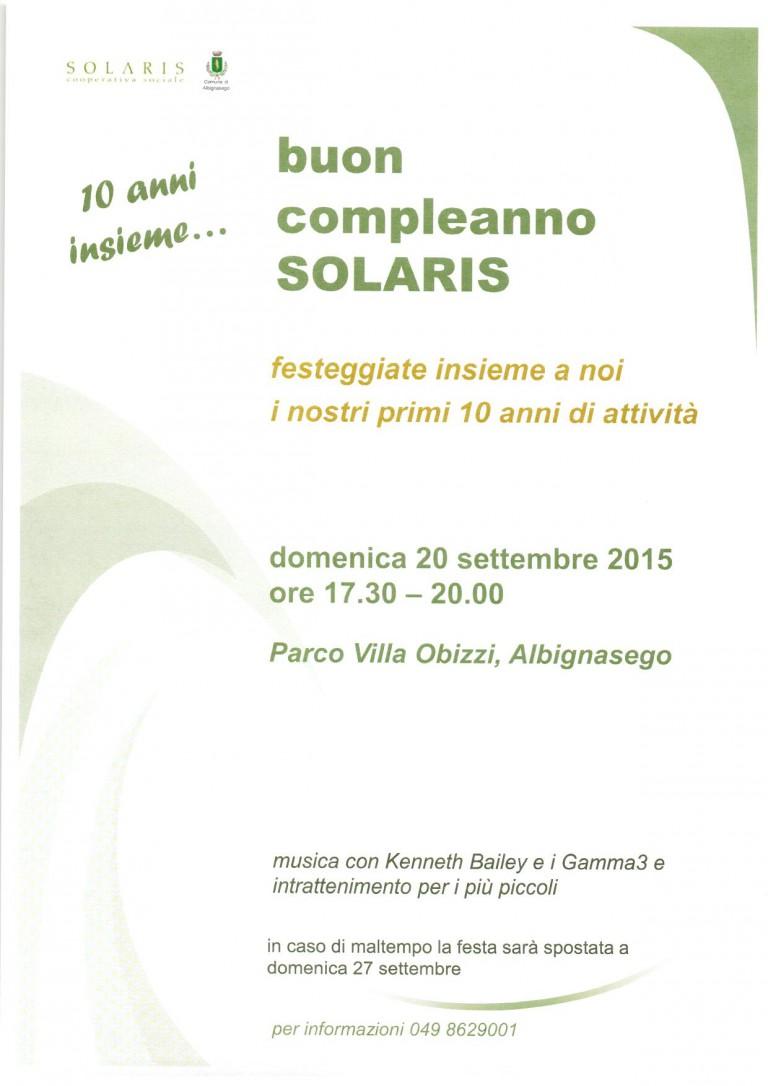 2015 09 21 Buon compleanno Solaris